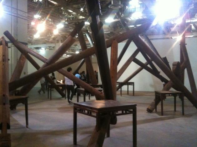 Ai wei wei Wood Art stage Singapore